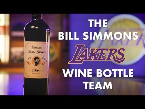 Bill Simmons Picks His Los Angeles Lakers Wine Bottle Team | NBA Palooza | The Ringer