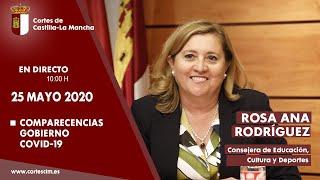 Comparecencias COVID-19. Rosa Ana Rodríguez,  consejera de Educación, Cultura y Deportes.