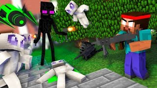 Monster School : AREA 51 CHALLENGE MOVIE  - Minecraft Horror Animation