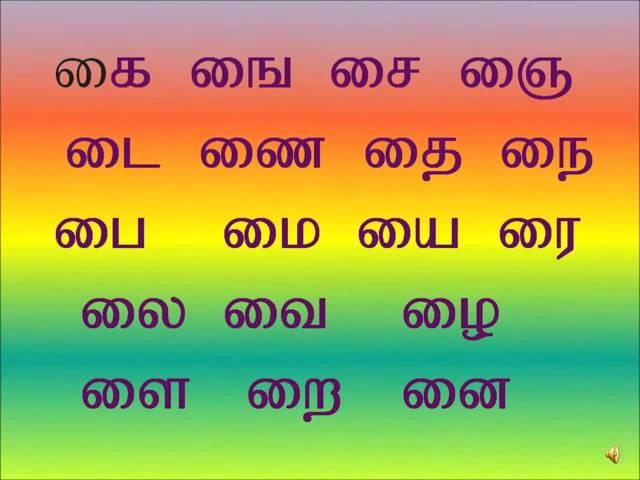 UYIRMEI Eluthukkal Tamil  I varisai (உயிர்மெய் எழுத்துக்கள்