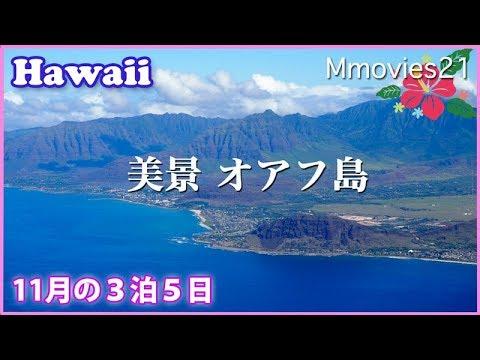 ビジネスクラスで行くハワイ ホノルル3泊5日の旅 機窓と街風景 Hawaii Travel