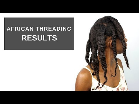 African Threading Results | 4c natural hair