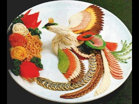 Vegetable salad decoration ideas (part1) - YouTube