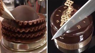 Amazing Chocolate Cake Decorating Tutorials - Oddly Satisfying Video 2017  🍰🍰🍰😜😝