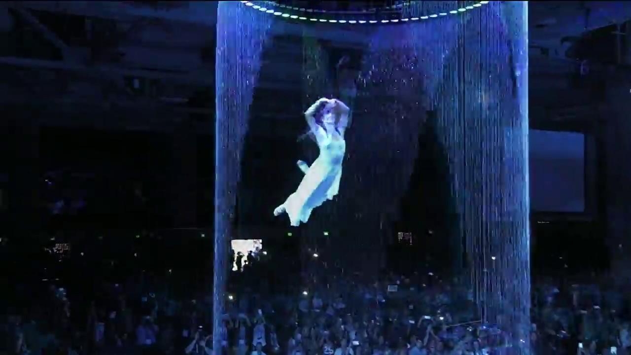 Aerial Water Curtain Dance - YouTube