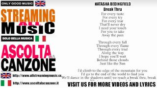 Natasha Bedingfield - Break Thru (Lyrics / Testo)