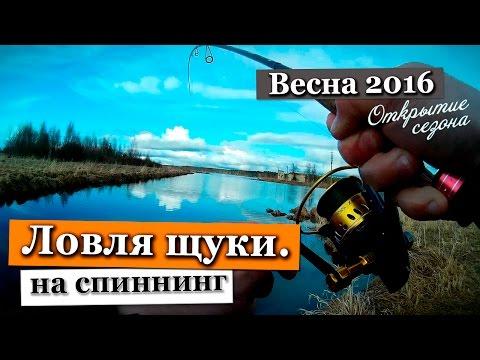 Ловля щуки весной на спиннинг  Рыбалка в Ленинградской области 2016