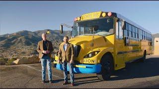 LionC all electric school bus walk around
