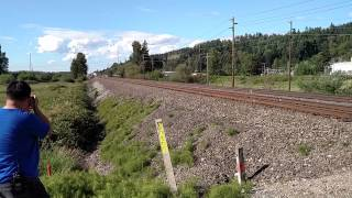 Sounder Commuter Train with F59PHI Leading at MP 26.4X (Sumner, Wash).