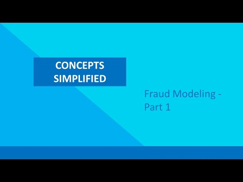 Fraud Modeling - Part 1