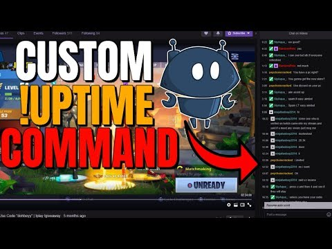 How to add an !uptime command in Nighbot (Nightbot Tutorial)