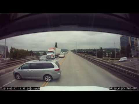 Driver pulls U-turn on Ross Island Bridge midspan