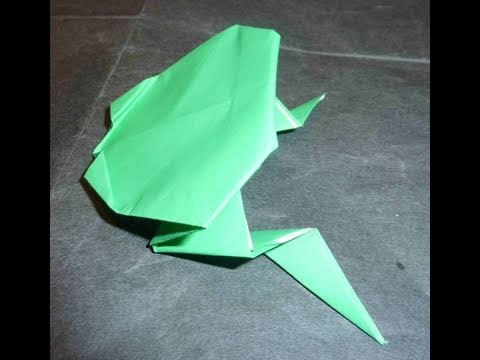 How To Make Easy Flipping Frog Origami Flips Mid Air
