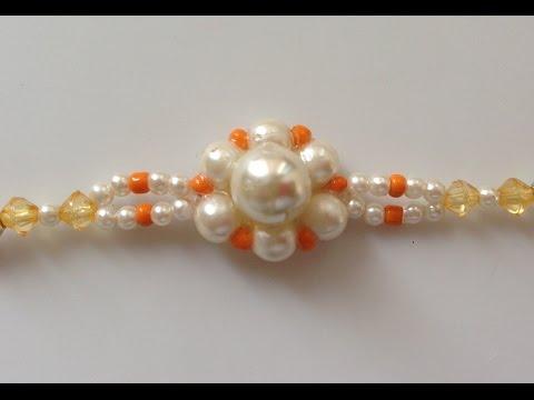 Rakhi making | How to make | rakhi design for Rakshabandhan | Beads art
