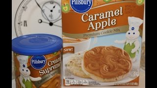 Making Pillsbury Caramel Apple Cookies