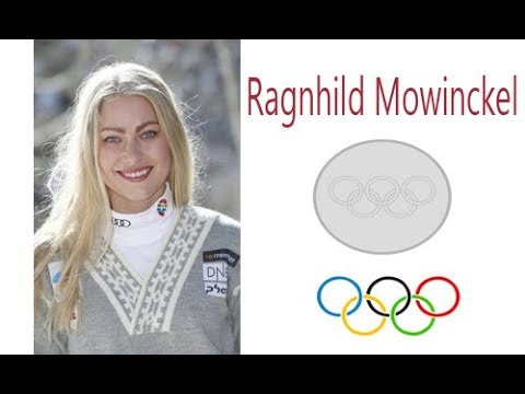 Silver medal for Ragnhild Mowinckel, Norwegian alpine skier downhill at the Winter Olympics
