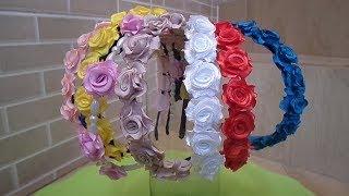 Como fazer mini rosas de cetim para aplicações diversas