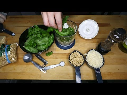 (English) How to Make Basil Pesto At Home ~ Whispered ASMR