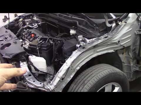 Кузовной ремонт. Хонда CRV, боковой удар, #1.Body Repair.