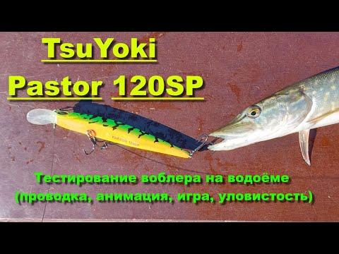 TsuYoki Pastor 120SP - тестирование воблера на водоёме (проводка, анимация, игра, уловистость)