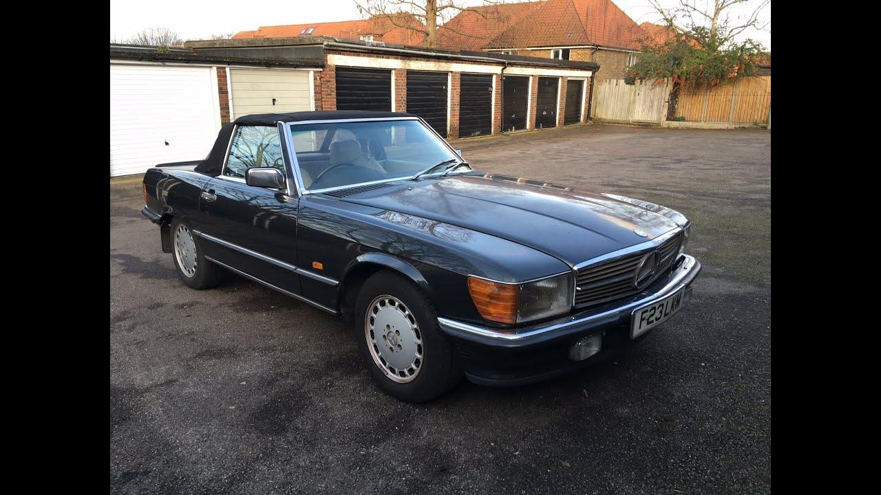 Mercedes benz 500sl v8 r107 review the noble garage for Garage mercedes pau