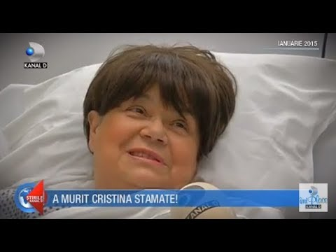 Stirile Kanal D (27.11.2017) - Cristina Stamate a murit! Editie COMPLETA