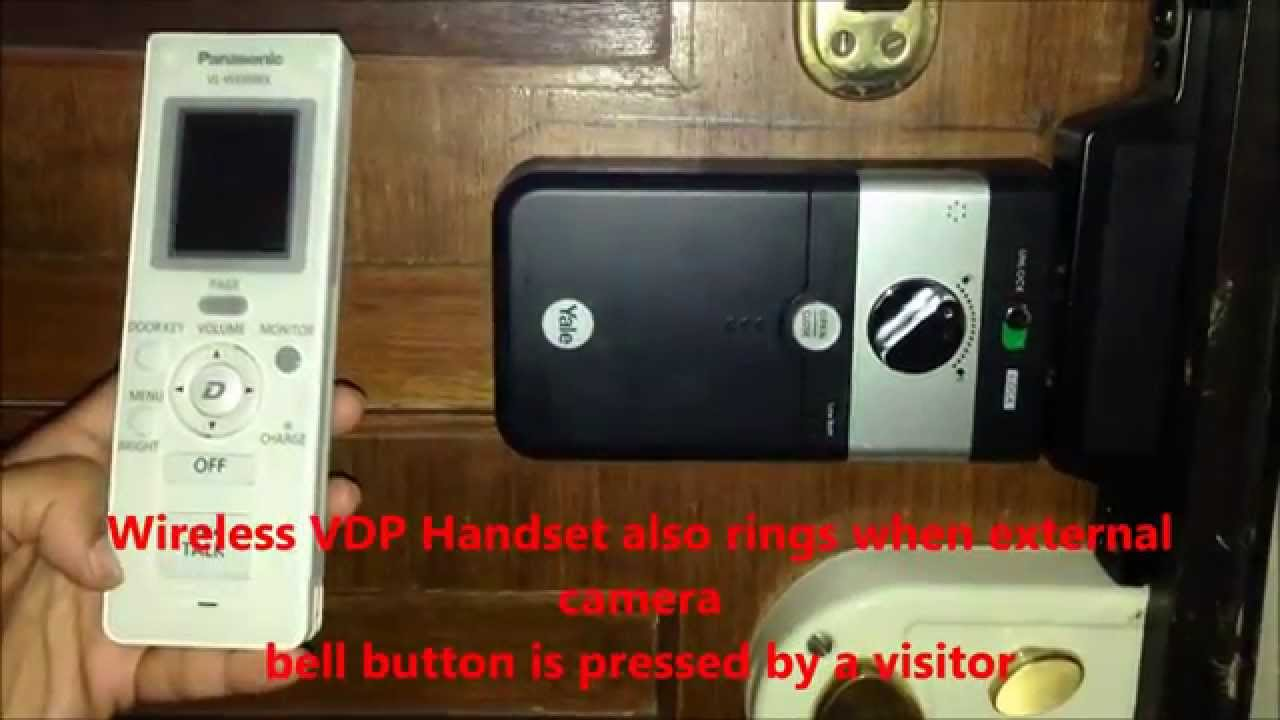panasonic wireless vdp vl swbx and yale finger print lock