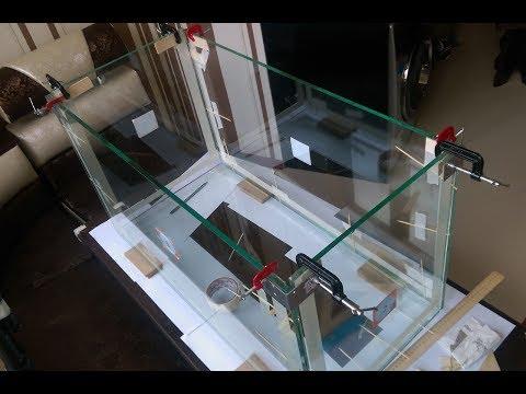 Склейка аквариума своими руками (видео/фото отчет) (длительность 5:15 мин)