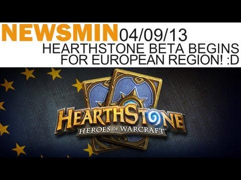 Newsmin - 04/09/13 - HEARTHSTONE EU BETA BEGINS :D