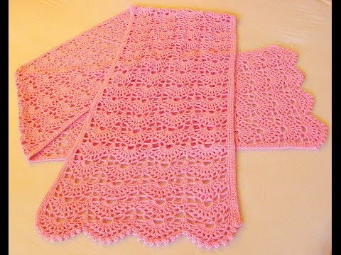 Sweet Scallops Scarf Crochettamilenglish Youtube