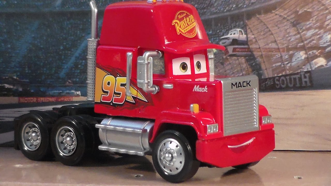 Cars 3 Mack New 2017 Deluxe Mattel Disney Pixar Semi Piston Cup Cast Unboxing Review