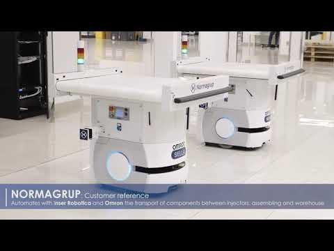 Normagrup automates material transport with autonomous mobile robots