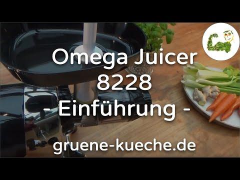 Omega Juicer 8228 - Einführung (Teil 1/4)