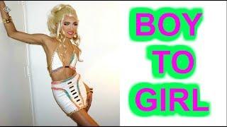 BOY to GIRL Transformation GAY PRIDE