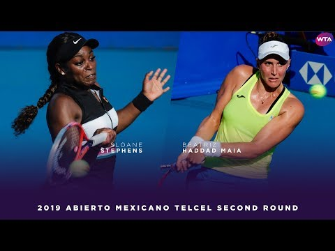 Sloane Stephens vs. Beatriz Haddad Maia | 2019 Acapulco Second Round | WTA Highlights