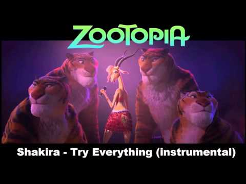 Shakira - Try Everything (official instrumental with subtitles)