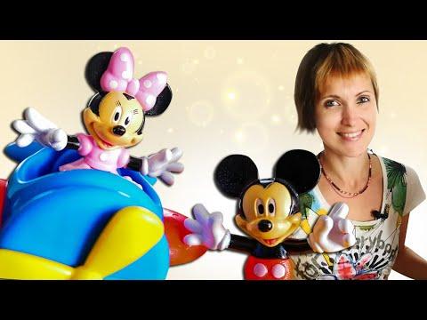 Игрушки Микки Маус и Минни на игровой площадке - Видео для детей с Машей Капуки #Оставайтесьдома