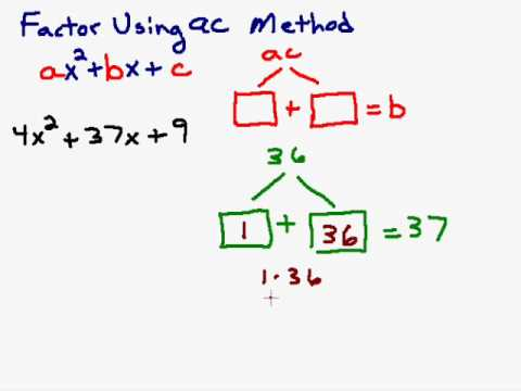 Factoring a Trinomial Using the AC Method - YouTube
