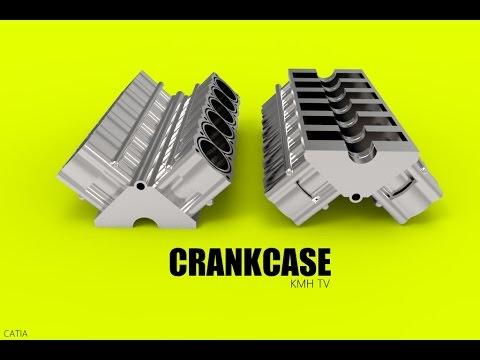 catia-online-training- -how-to-design-the-crankcase- -car-engine- -step-24