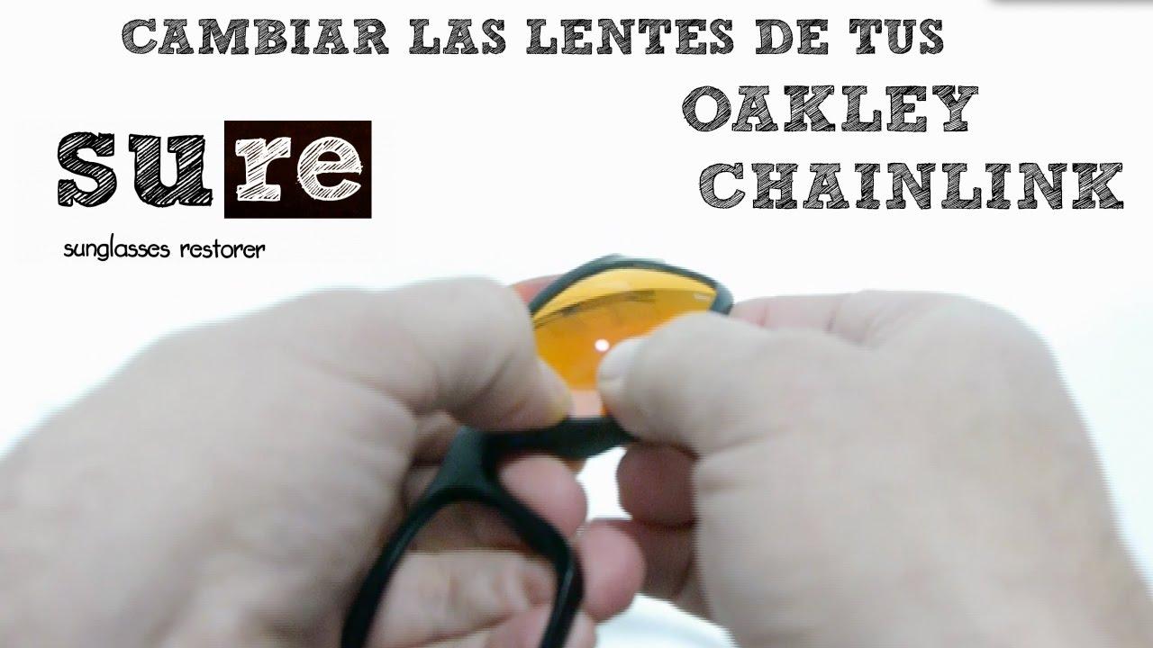 cristales oakley chainlink