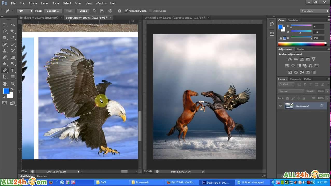 Học Photoshop – Học cắt ghép ảnh nâng cao [những kĩ thuật hay]