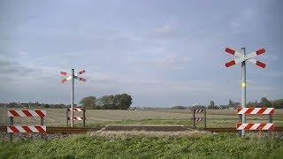Spoorwegovergang Oosterwijtwerd // Dutch railroad crossing