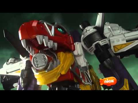 Power Rangers Dino Super Charge   All Megazord Fights Episodes 1 8