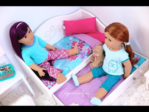 Setting Up All My American Girl Doll Beds
