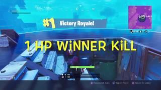 Crazy 1 HP Winner Kill [Fortnite Battle Royale] Solo PS4 Gameplay