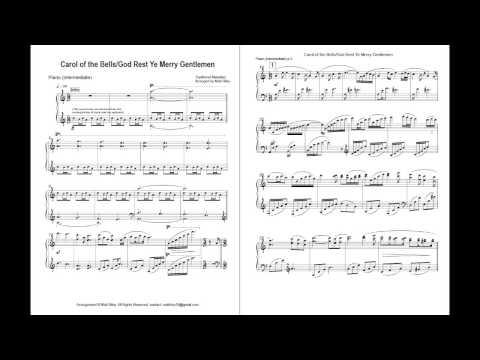 Carol of the Bells / God Rest Ye Merry Gentlemen (Intermediate Piano)