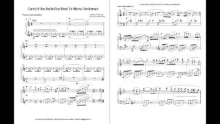 Gambar cover Carol of the Bells / God Rest Ye Merry Gentlemen (Intermediate Piano)