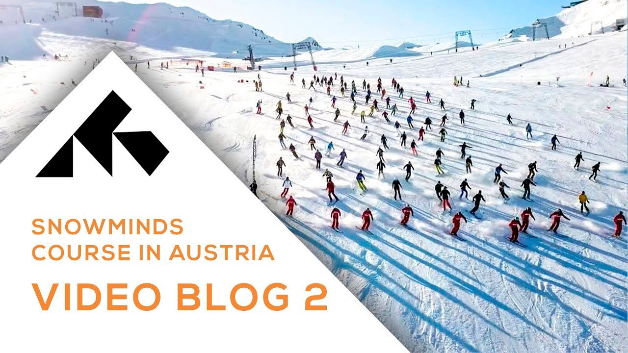 300 people skiing together? Video blog 2 from Austria