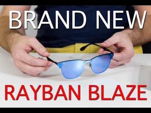 Rayban Blaze Clubmaster Collection Unboxing and Review - Blue Mirror/Purple