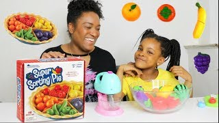 TARTE et MIXEUR MAGIQUE ! LEARN COLORS with magic mixer ,fruits & vegetables cutting food slime